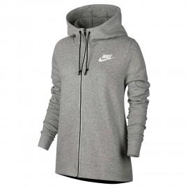 Nike Felpa Donna Full Zip C Capp Grigio 76e2a5d7ef73
