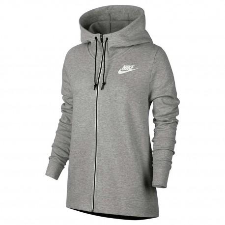 Donna Zip Palestra Acqui Ccapp Nike 857416 Grigio Full Felpa 063 qE7wIFA7