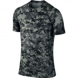 Nike T-Shirt Hprcl Top Camou Grigio