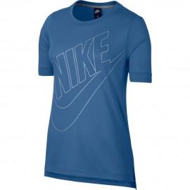 Nike T-Shirt  Donna Logo Blu