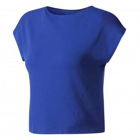 Adidas T-Shirt Donna Knit Blu
