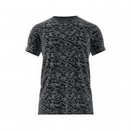 ADIDAS t-shirt sleeve grigio