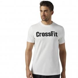 Reebok T-Shirt Logo Cross Bianco