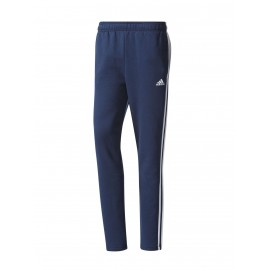 Adidas Pantalone 3 Stripes Felpa Blu