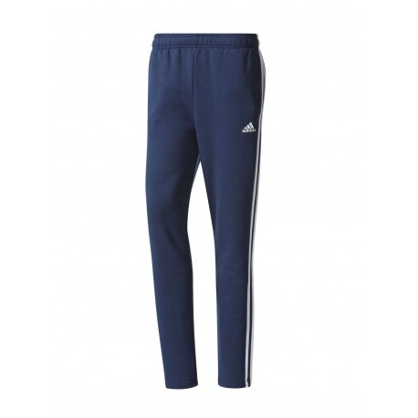 Adidas Pantalone Unisex 3 Stripes Felpa Blu