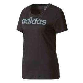 Adidas T-Shirt Donna Logo Linear Grigio