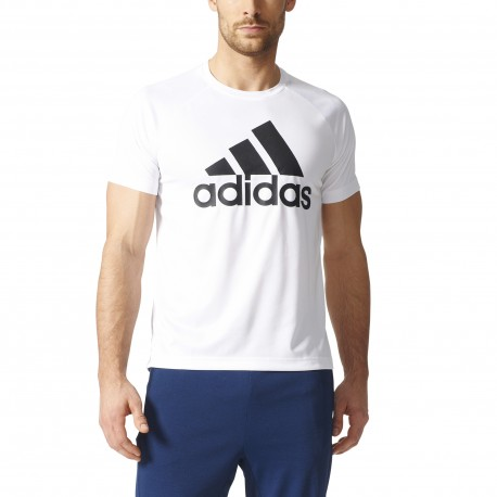 Adidas T-Shirt Logo Train  Unisex Bianco