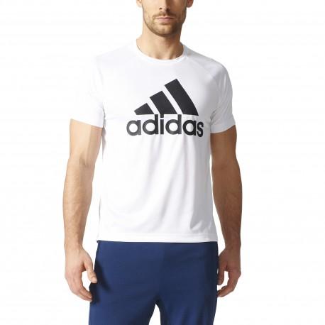 Adidas T-Shirt Logo Train  Unisex Bianco