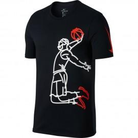 Nike T-Shirt Mm Lbj Dry Famous Black/White