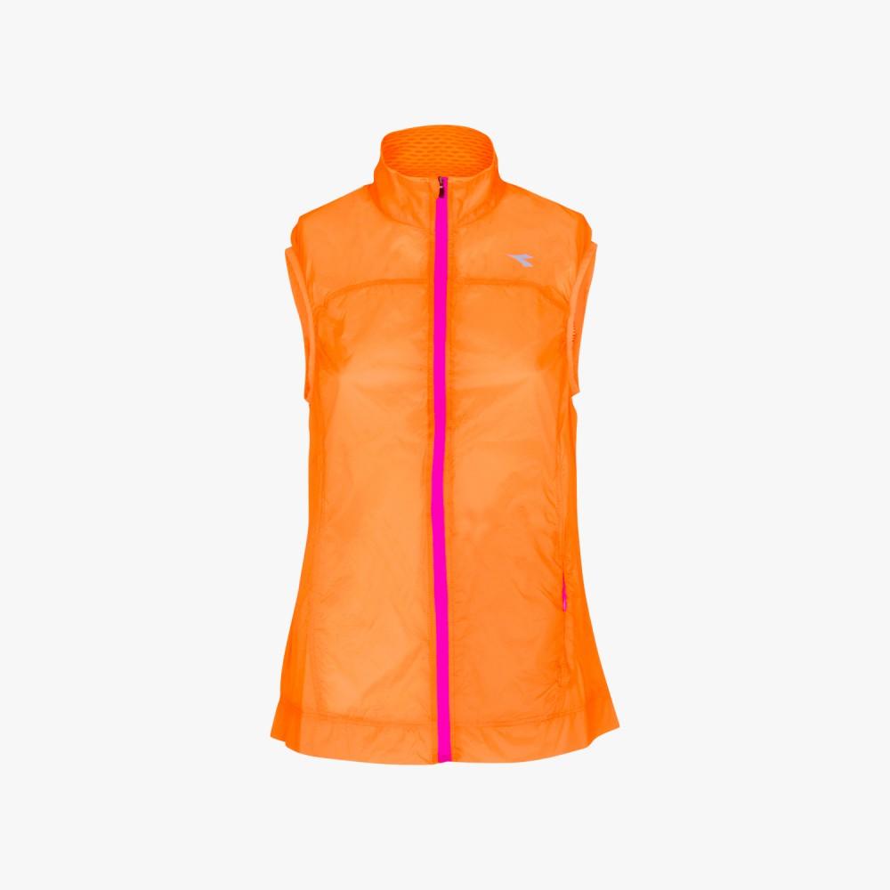Running Diadora Gilet Donna L. Vest Arancio 172150 97004