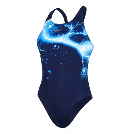 Speedo Costume W Train Groove Glow Navy/Blue