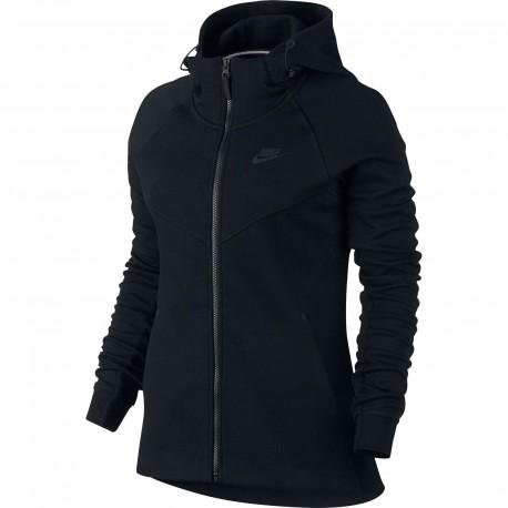 Nike Felpa Donna Cap Tech Fleece Black