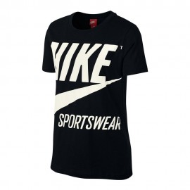 Nike T-Shirt Big Logo Donna Bianco