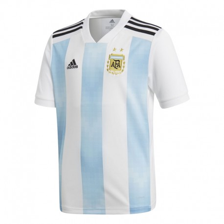 Adidas T-Shirt Bambino Mm Argentina Home Bianco/Azzurro