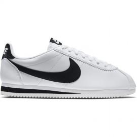 Nike Donna Classic Cortez Leather Bianco/Nero