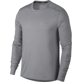 Nike T-shirt Ml Running Brt Tailwind Atmosphere Grey