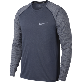 Nike T-shirt Ml Running Brt Miler Obsidian