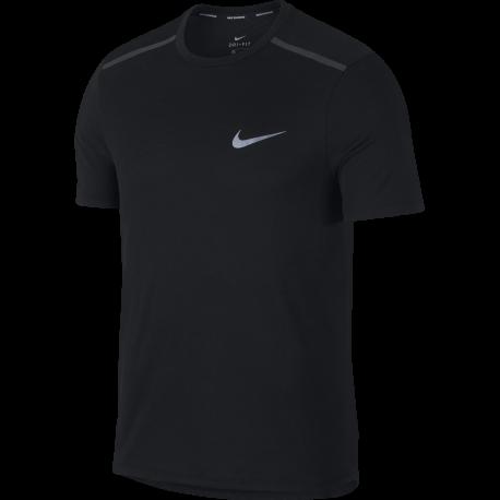 Nike T-shirt Mm Running Brt Talwind Black/Black