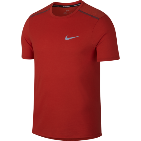 Nike T-shirt Mm Rn Brt Talwind Habanero Red/Team Red