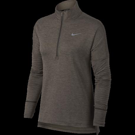Nike T-shirt Ml Rn Therma Sphere Element Donna Ridgerock