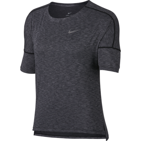 Nike T-shirt Mm Run Dry Medalist Donna Black/Gunsmoke