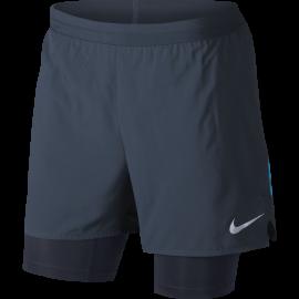 Nike Short 5'' Run Distance 2in1 Blue Obsidian