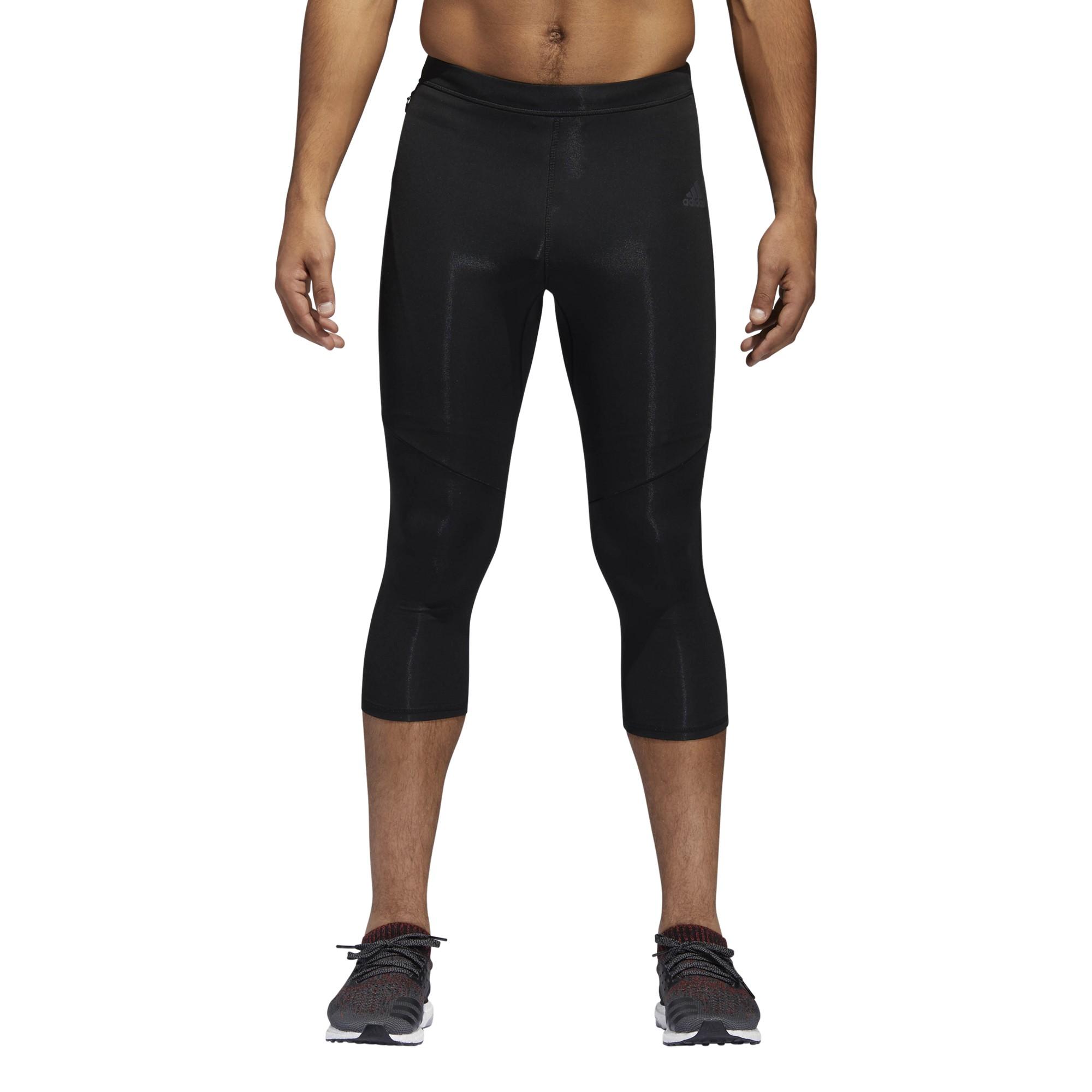 running ADIDAS tight 34 running response bianco nero donna