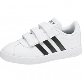 Adidas Junior Vl Court 2.0 Cmf Bianco/Nero