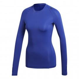 ADIDAS t-shirt donna m/l train blu