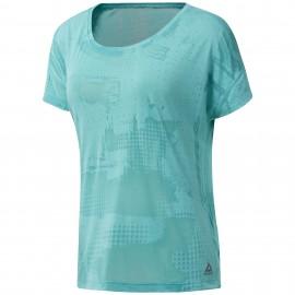Reebok T-Shirt Donna Over Train Azzurro