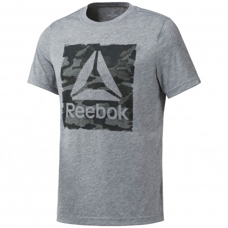 Reebok T-Shirt Mm Train Grigio