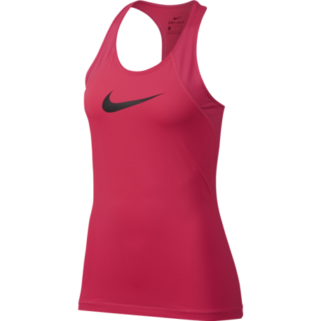 Nike Tank Donna Over Mesh Train Racer Pink