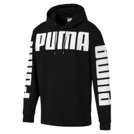 Puma Felpa C/Capp Big Logo Nero