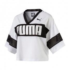 Puma T-Shirt Donna Corta Big Logo Bianco/Nero