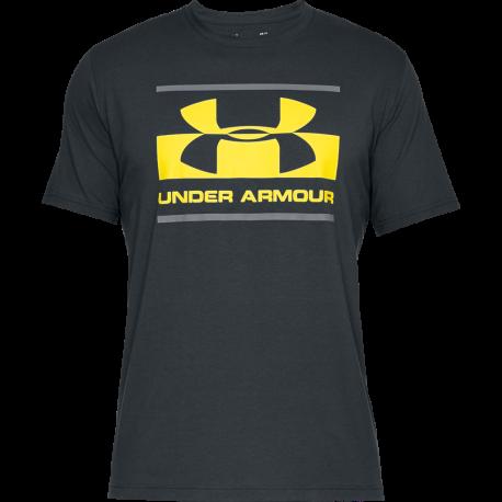 Under Armour T-Shirt Logo Grigio/Giallo