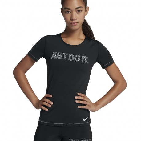 Nike Black Donna 010 Swoosh Palestra T Shirt Selfie Train 889546 4dSggqx