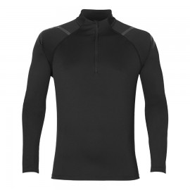 Asics T-Shirt Ml Rn Icon 1/2 Zip Performance Black