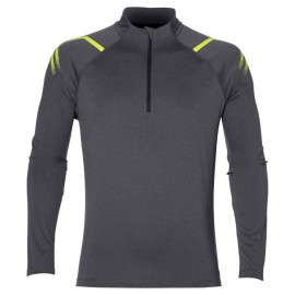 Asics T-Shirt Ml Rn Icon 1/2 Zip Dark Gray