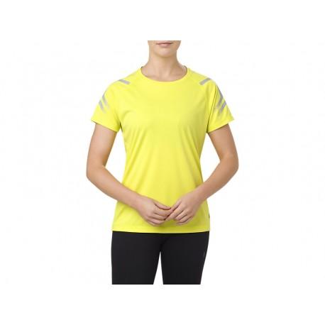 Asics T-Shirt Donna Mm Run Icon Sulfur Spring