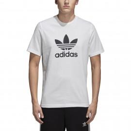 Adidas Originals T-Shirt Slim Logo Bianco