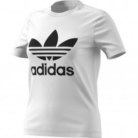 Adidas Originals T-Shirt Donna Logo Or Bianco