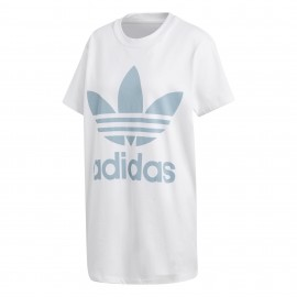 ADIDAS originals t-shirt donna big logo or bianco