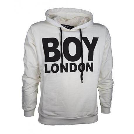 Boy London Felpa C/Capp Unisex Bianco