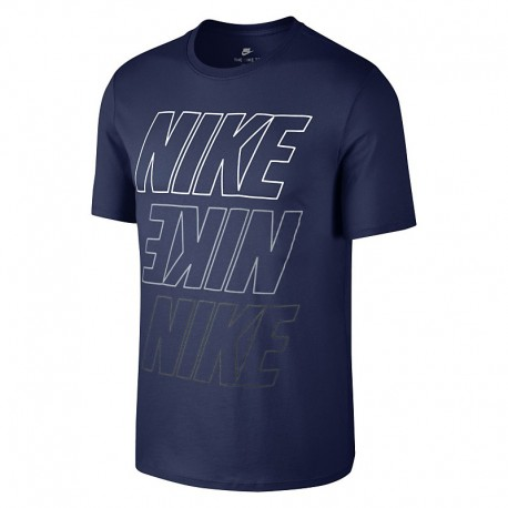 Nike T-Shirt Mm Logo Binary Blue