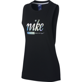 Nike Tank Donna Metallic Black
