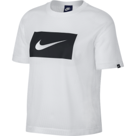 Nike T-Shirt Donna Mm Swoosh  White