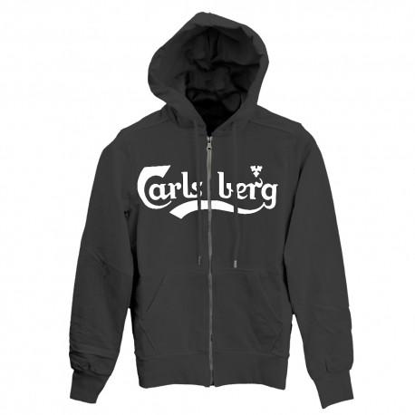 Carlsberg Felpa Capp/Zip  Nero