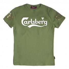 Carlsberg T-Shirt Laminato Oro  Verde