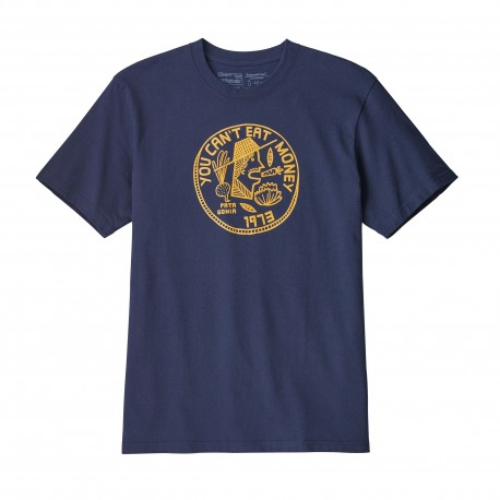 Patagonia T-Shirt Can't Eat Money  Classic Navy