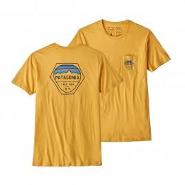 Patagonia T-Shirt Fitz Roy Hex  Yurt Yellow